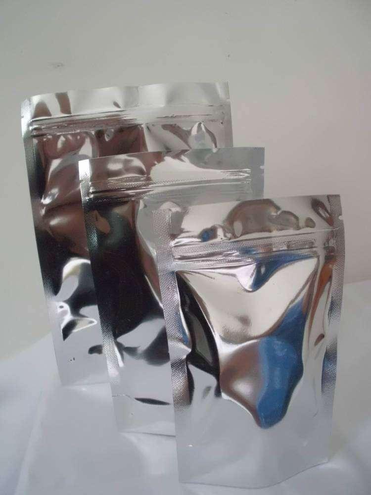saquinho metalizado ziplock